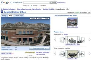 Oficina de Google en Boulder en 3D en Google Earth