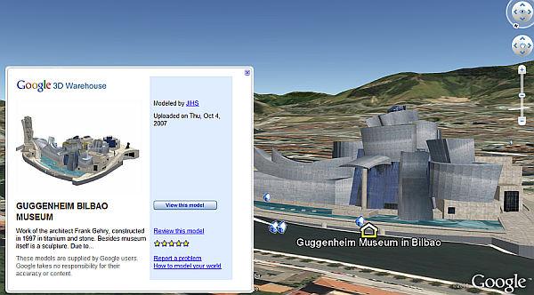 Museo Guggenheim Bilbao en Google Earth