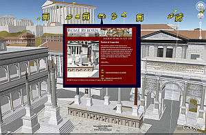 Antigua Roma en 3D para Google Earth