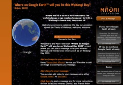 Waitangi Day en Google Earth
