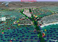 DestinSharks Marine Charts in Google Earth