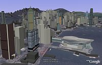 Hong Kong in 3D in Google Earth