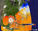Hurricane Katrina Time Animation in Google Earth