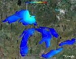 NOAA Great Lakes Weather Data in Google Earth