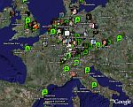 Plazes Social Network in Google Earth