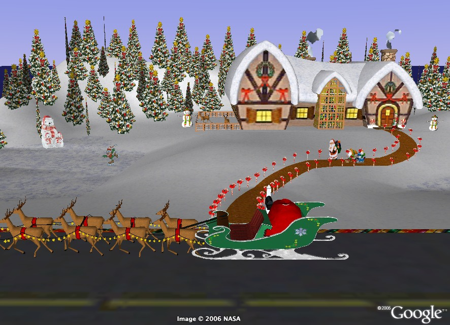 Google's SANTA TRACKER Shows Same Position as NORAD Tracker ...