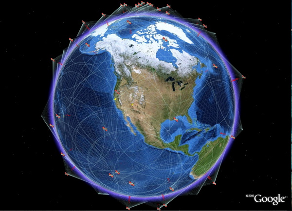 Interesting Satellite Visualizations For Google Earth Google - Live earth satellite