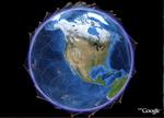 Satellite visualizations in Google Earth