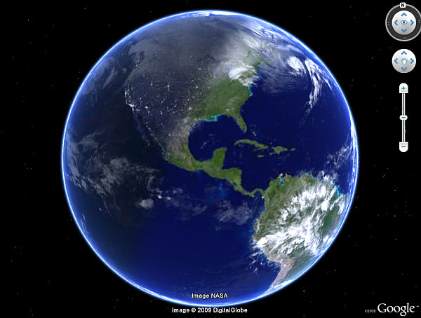 World Sunlight Map In Google Earth. Automatically Updates Every 30 Minutes,