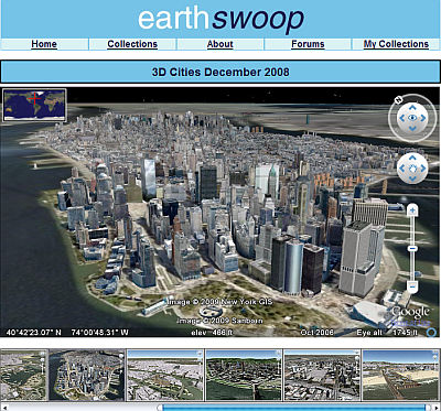 EarthSwoop - Ciudades 3D en Google Earth