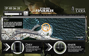 Tomb Raider Underworld in Google Earth