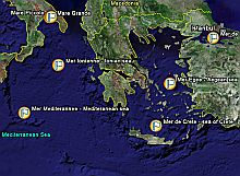 95 Seas of the World in Google Earth