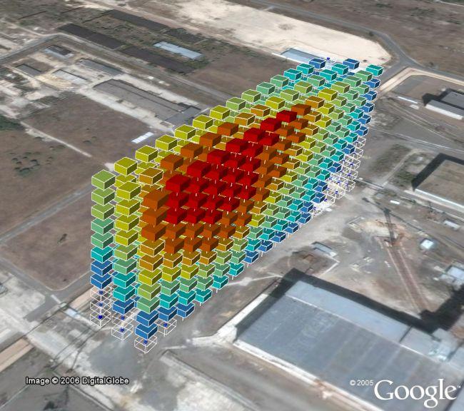Chernobyl Visualization in Google Earth