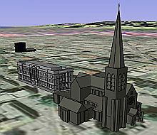 3D Christchurch, New Zealand in Google Earth