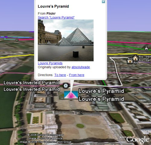 Da Vinci Code in Google Earth