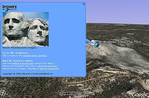 Discovery Channel in Google Earth
