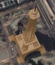 3d Eiffel Tower in Google Earth