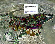Emotion Map of Greenwich in Google Earth
