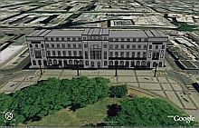 Fitzroy Square in 3D in Google Earth