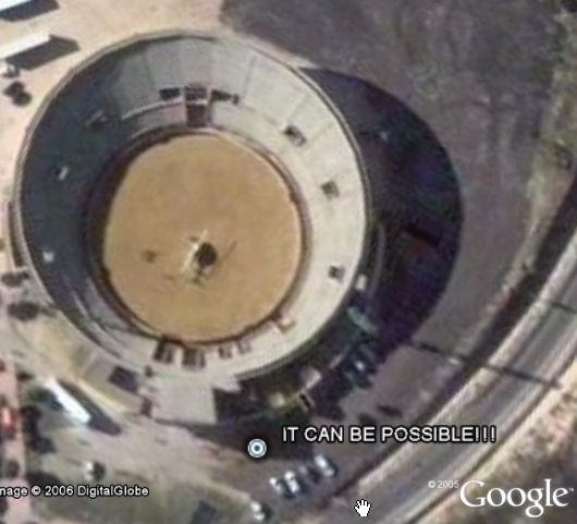 Famous Helicopter in Google Earth