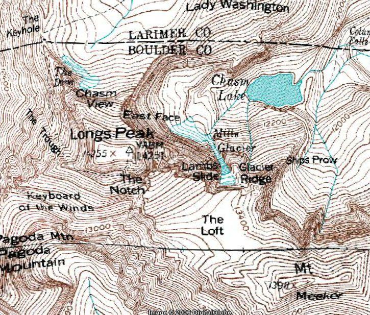 Topographie google map