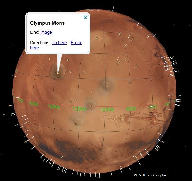 User Develops Mars Addon for Google Earth  Google Earth Blog