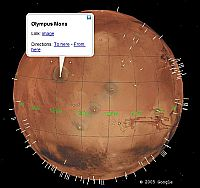 Mars in Google Earth