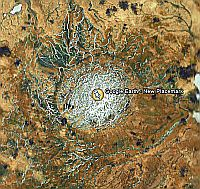 New Crater in Arctic Google Earth