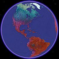 Night Land Temperature in Google Earth