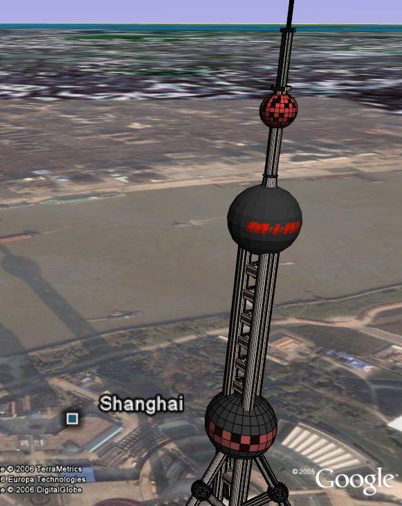 Ocean Pearl Tower in Google Earth