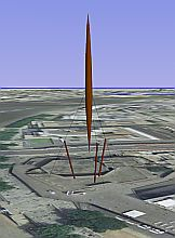 The Skylon in Google Earth