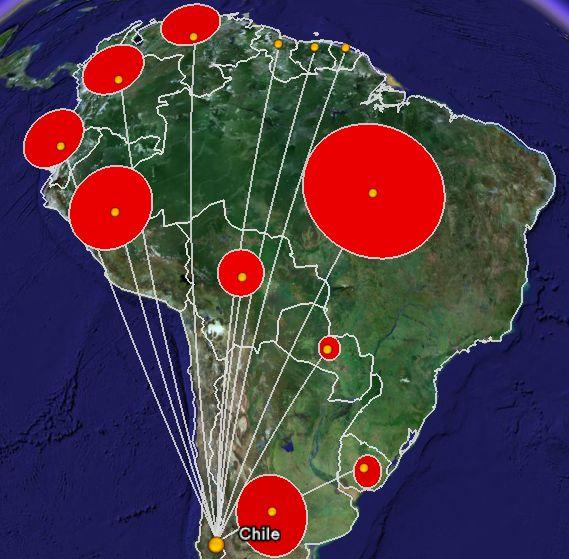 Google Maps South America