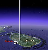 Space Elevator in Google Earth