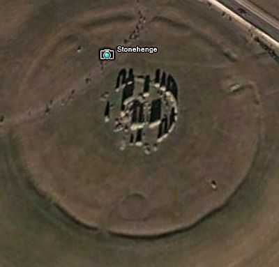 Stonehenge in Google Earth