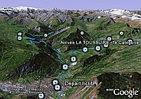 Tour de France 2006 in Google Earth