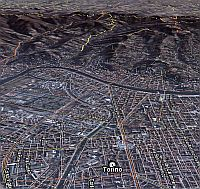 Torino, Italy Olympics in Google Earth
