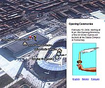 2006 Torino Olympics in Google Earth
