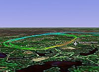 Touch and Gos flying with GPS in Google Earth