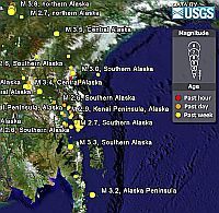 USGS Earthquakes in Google Earth