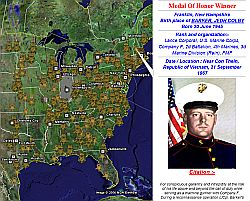 US Medals of Honor in Google Earth