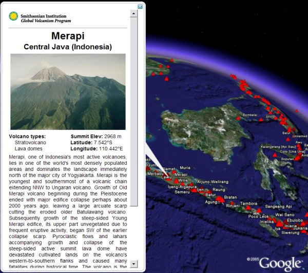 New Volcano Layer in Google Earth  Google Earth Blog