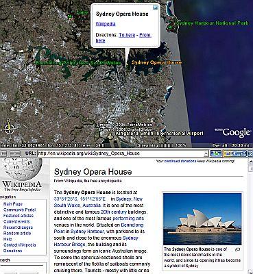 Wikipedia in Google Earth
