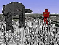 ZNO vs R4 robots in NYC in Google Earth