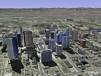Denver in 3D in Google Earth