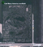 Corn field maze and other mazes in Google Earth
