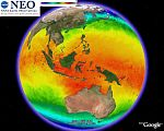 NASA Sea Surface Temperature in Google Earth