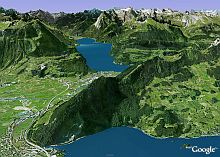 High-res Swiss Alps in Google Earth