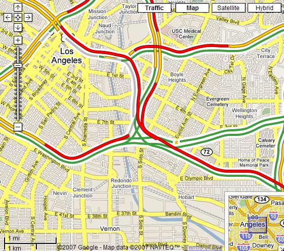 New Real Time Traffic In Google Maps For Usa Google