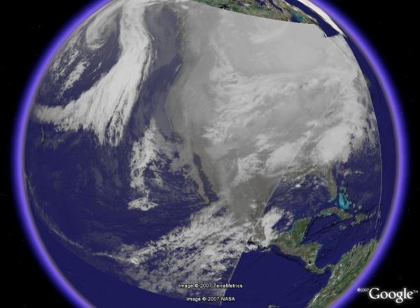 Recent Weather Satellite Animations In Google Earth Google Earth - Recent satellite pictures