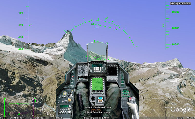 F 16 Cockpit Add On For Google Earth Flight Sim Google Earth Blog